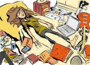 Dies ist die Illustration in einem Ratgeber für junge Studiernde für den Studienbeginn