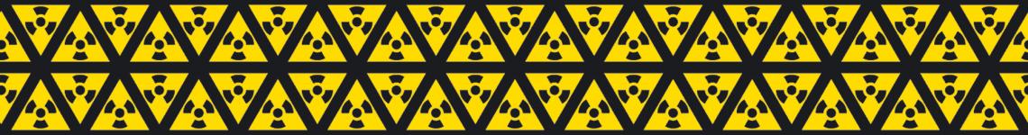 Dies ist ein grafisches Muster aus dem Gefahrenzeichen für Radioaktivität